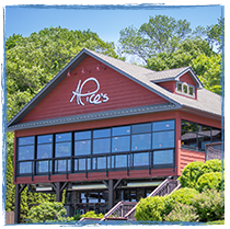 Exterior view of Alice's restaurant at Lake Hopatcong