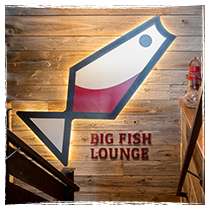 Wooden Big Fish logo sign